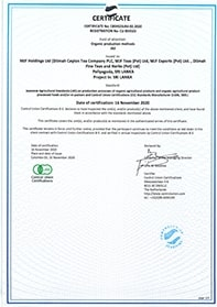 Organic Certification to Japanese Agricultural Standard of Organic Agricultural Products (JAS)